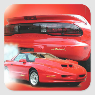Firehawk Musclecar Square Sticker
