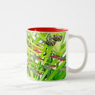 Firehead tetras 2 Two-Tone coffee mug