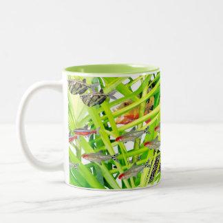 Firehead tetras Two-Tone coffee mug