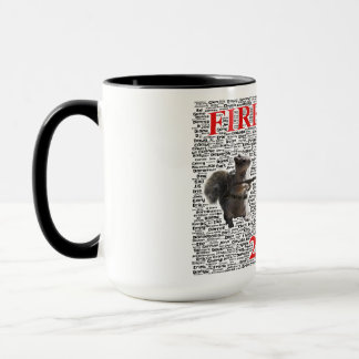 Firehouse Coffee Mug with Word Cloud