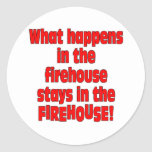 Firehouse Round Stickers
