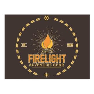 Firelight - Adventure Gear Postcard