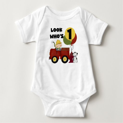 Fireman 1st Birthday Tshirts and Gifts