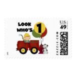 Fireman 1st Birthday Tshirts and Gifts Postage Stamps