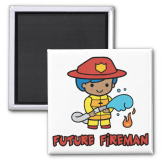 Fireman 2 Inch Square Magnet