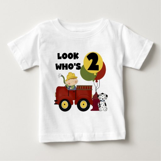 Fireman 2nd Birthday Tshirts and Gifts