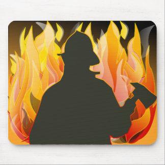fireman-38083  fireman fire cartoon axe save helme mousepad