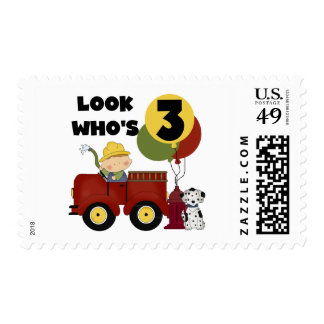 Fireman 3rd Birthday T-shirts and Gifts Stamp