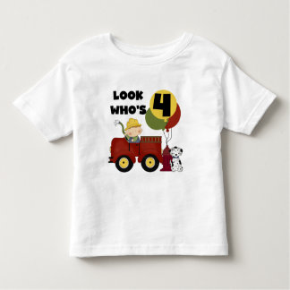 Fireman 4th Birthday Tshirts and Gifts