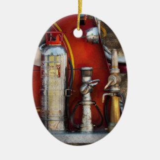 Fireman - An Assortment of Nozzles Ceramic Ornament