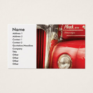 Fireman - An old fire truck Business Card