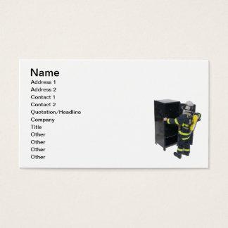 Fireman and Locker Business Card