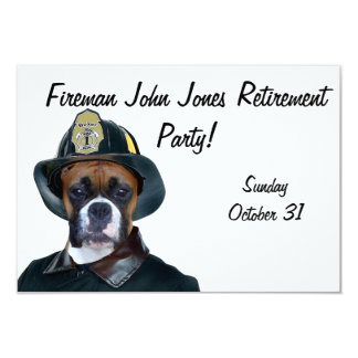 Fireman boxer dog card