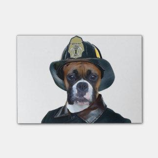 Fireman boxer dog post-it® notes