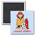 Fireman (Boy) Fridge Magnet