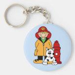 Fireman (Boy) Keychain