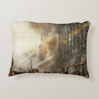 Fireman - Brooklyn NY - Surprise 1909 Decorative Pillow