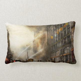 Fireman - Brooklyn NY - Surprise 1909 Lumbar Pillow