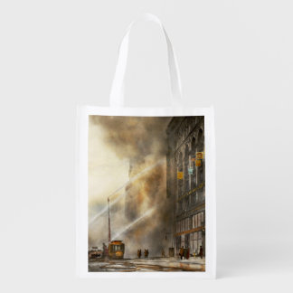 Fireman - Brooklyn NY - Surprise 1909 Reusable Grocery Bag