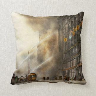 Fireman - Brooklyn NY - Surprise 1909 Throw Pillow
