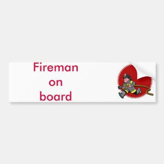 Fireman Bumper Sticker
