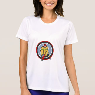 Fireman Carry Axe Hook Pike Pole Circle T Shirts
