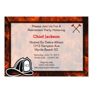 Fireman/Chief Retirement Party Invitation