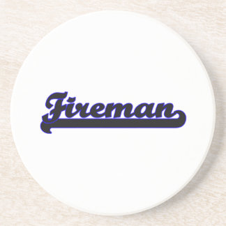 Fireman Classic Job Design Drink Coasters
