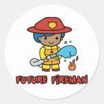 Fireman Classic Round Sticker