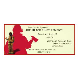 Fireman Custom Retirement Party Invitations