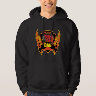 Fireman Dad Hooded Pullover
