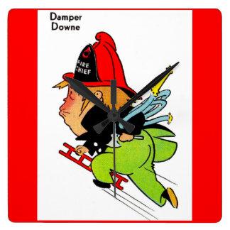 fireman Damper Downe Square Wall Clock