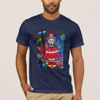 FIREMAN Dia de Los Muertos T-Shirt