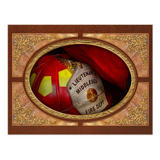 Fireman - Everyone loves red Postcard