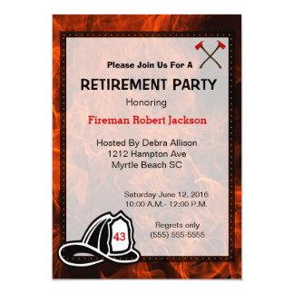 Fireman/Fire Chief Retirement Invitation