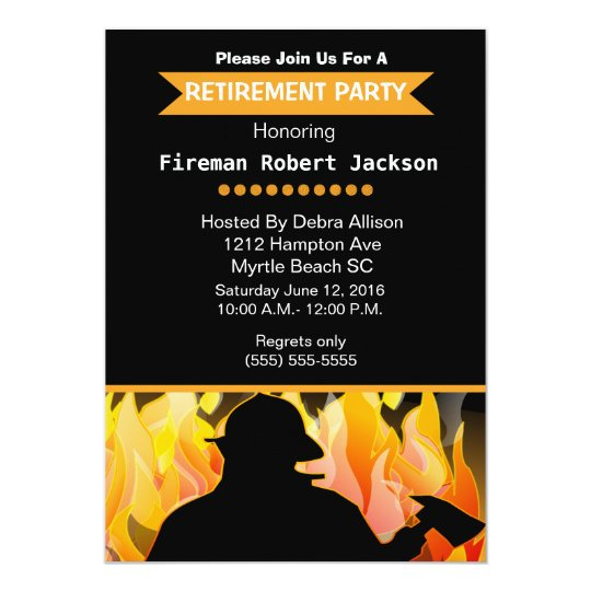 FiremanFire Chief Retirement Invitation  Zazzle