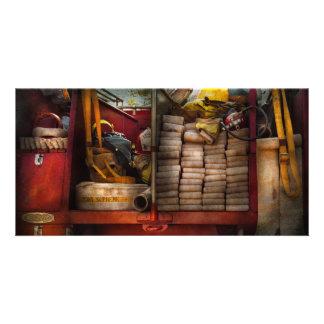 Fireman - Fire equipment Photo Card Template