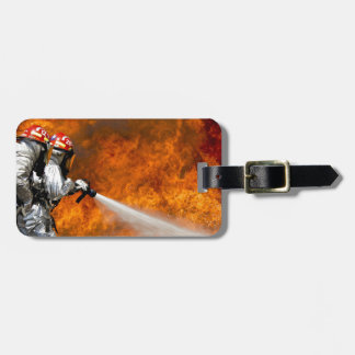 Fireman Fire Flame Rescue Destiny Digital Bag Tag