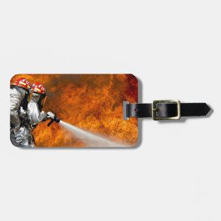 Fireman Fire Flame Rescue Destiny Digital Bag Tag