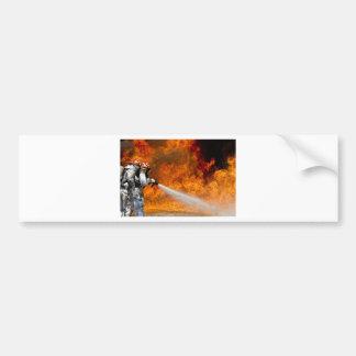 Fireman Fire Flame Rescue Destiny Digital Car Bumper Sticker