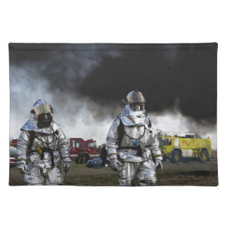 Fireman Fire Flame Rescue Destiny Digital Cloth Placemat