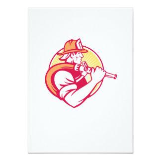 Fireman Firefighter Emergency Worker 11 Cm X 16 Cm Invitation Card