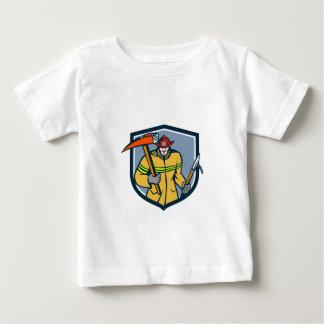 Fireman Firefighter Fire Axe Hook Crest Retro Baby T-Shirt