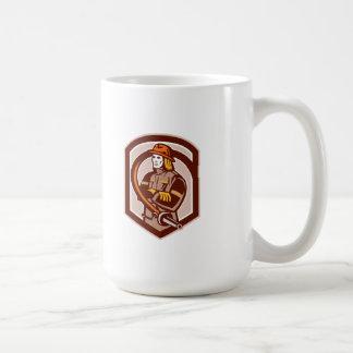 Fireman Firefighter Folding Arms Shield Retro Coffee Mugs