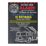 Fireman Firefighter Retirement Invitation
