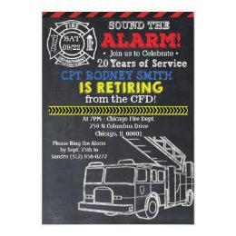 Fireman Firefighter Retirement Invitation