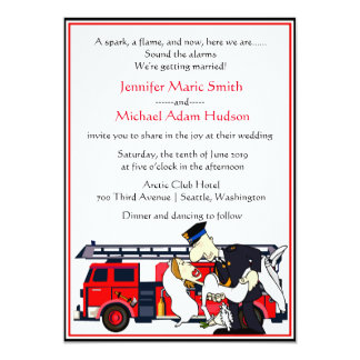 firefighter wedding invitations Wedding Decor Ideas