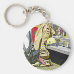 Fireman Firefighting Suit and Truck Key Chains