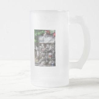 Fireman - Fireman's Controls Frosted Glass Beer Mug