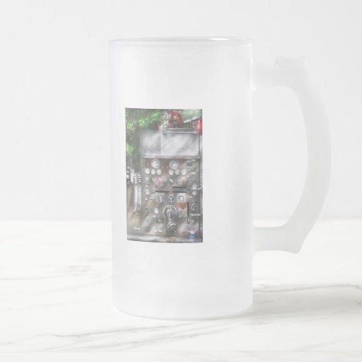 Fireman - Fireman's Controls 16 Oz Frosted Glass Beer Mug